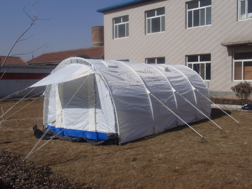 White camping tents