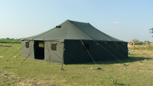 Green Military tents