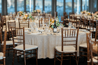 Gold tiffany chairs and round table manufacturer