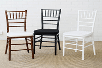 white and black tiffany chairs