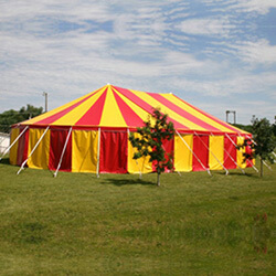 red and yellow pole tents for sale