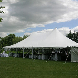 white peg and pole tents