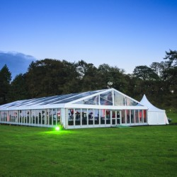 Clear frame tents